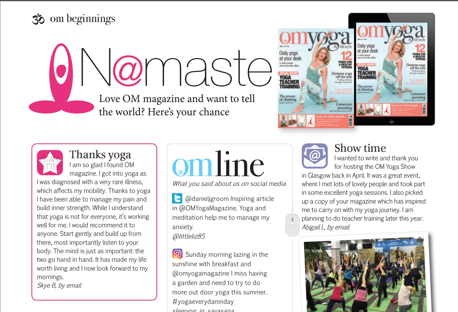 Win a Mat with Om Yoga Magazine – Winner