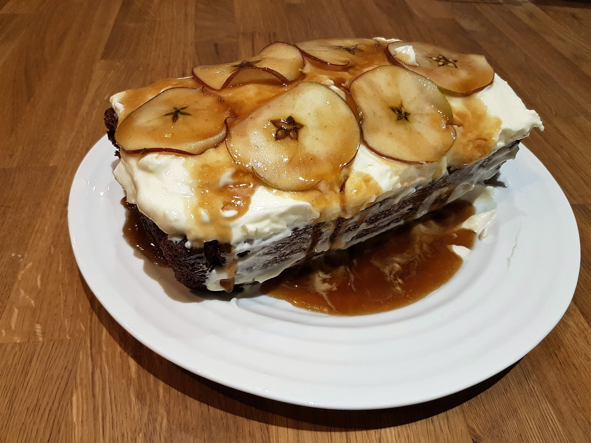 Rustic Spiced Toffee Apple Cake